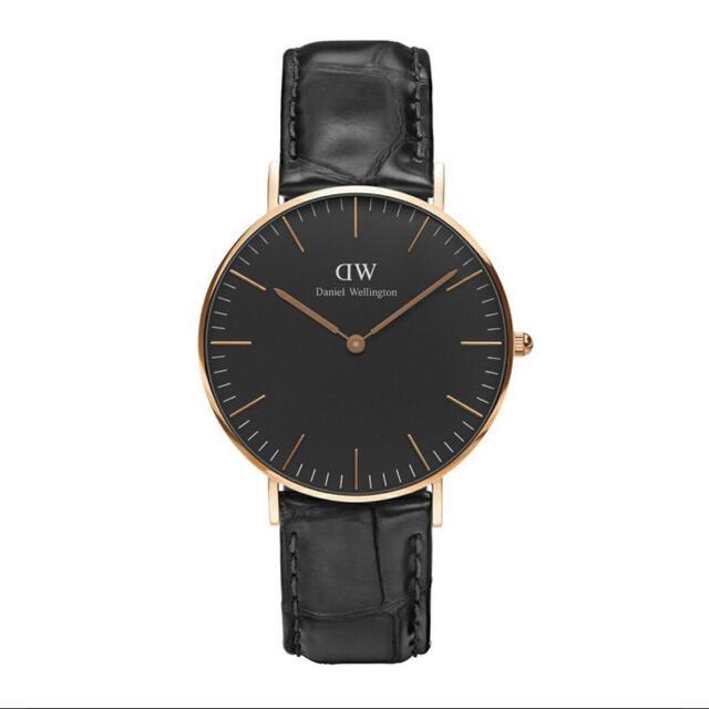 Daniel Wellington(ダニエルウェリントン)の美品 ダニエルウェリントン40mmクラシック ブラック ウォッチ メンズの時計(腕時計(アナログ))の商品写真