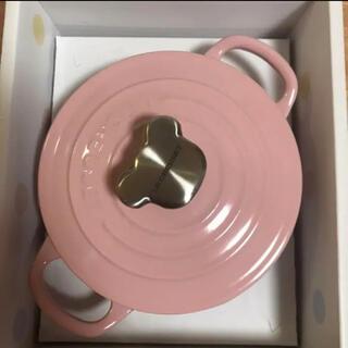 ルクルーゼ(LE CREUSET)のル・クルーゼ ベビー ピンク ベア 鍋 ココットロンド(鍋/フライパン)