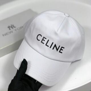 セリーヌ(celine)の【CELINE】ロゴプリント コットンツア ベースボールキャップ(キャップ)