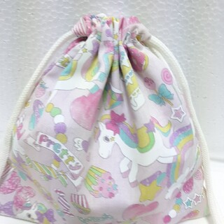 ユニコーン柄 コップ袋(外出用品)