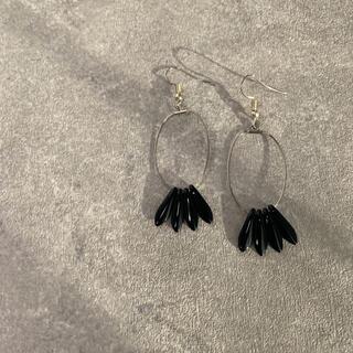 アダムエロぺ(Adam et Rope')のbeads  pierce  ビーズピアス 〻 black(ピアス)