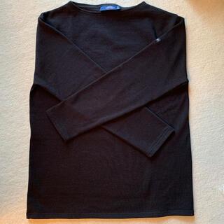 セントジェームス(SAINT JAMES)のセントジェームス 長袖カットソー 黒サイズ3 試着美品(カットソー(長袖/七分))