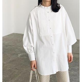 FRAY I.D - 【新品タグ付き】【2021新作】ピンタックバンドカラーシャツ【ホワイト】