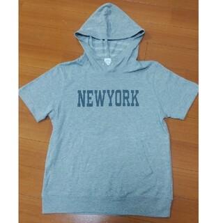 コーエン(coen)のcoenコーエン パーカーTシャツ グレー Mサイズ フードパーカー(Tシャツ/カットソー(半袖/袖なし))