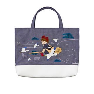 familiar - ファミリア  魔女の宅急便のマチ付きサブバッグ ジブリ デニムバッグ