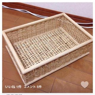 ムジルシリョウヒン(MUJI (無印良品))の重なるブリ材長方形バスケット・小(バスケット/かご)