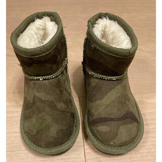 クレードスコープ(kladskap)の【新品同様】クレードスコープ迷彩ブーツ 15センチ(ブーツ)