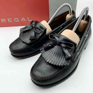 REGAL - 【REGAL】タッセルローファー ブラック 黒 レディース 22.5cm