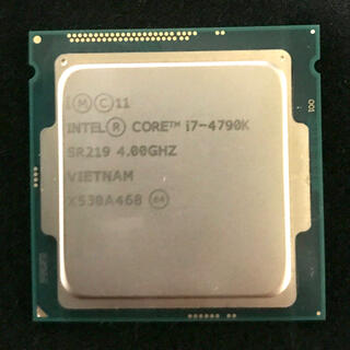 インテレクション(INTELECTION)のCPU intel core i7-4790k インテル(PCパーツ)