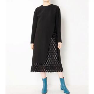 LE CIEL BLEU - 美品☆ルシェルブルー☆ドット ワンピース スカート