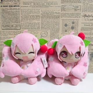 タイトー(TAITO)の桜ミク   ぬいぐるみ  2020ver  全2種セット(キャラクターグッズ)