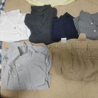ユニクロ(UNIQLO)のユニクロM長袖4枚ユニクロ半ズボンM GAP長袖S メンズ(Tシャツ/カットソー(七分/長袖))