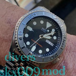 セイコー(SEIKO)のseikoネイビーボーイ自動巻ヨットマスタ風カスタム美品skx009mod(腕時計(アナログ))