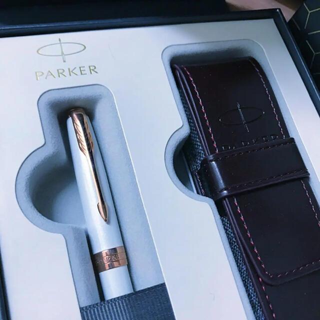 Parker(パーカー)のパーカー ボールペン ソネット プレミアム パールPGT インテリア/住まい/日用品の文房具(ペン/マーカー)の商品写真