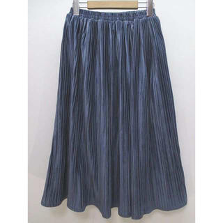 ドゥドゥ(DouDou)のDouDou♡ベロアプリーツスカート(ひざ丈スカート)