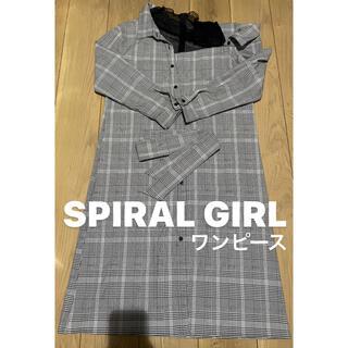 スパイラルガール(SPIRAL GIRL)のSPIRALGIRL スパイラルガール ワンピース チェック レース 肩出し(ひざ丈ワンピース)