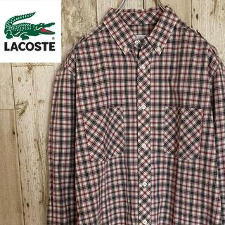 ラコステ(LACOSTE)のラコステ ボタンダウンシャツ 長袖チェック ワンポイントロゴ(シャツ)