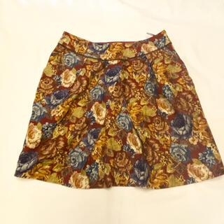 プーラフリーム(pour la frime)のPour la Frime 花柄ミニスカート コブラン コクーンスカート(ひざ丈スカート)