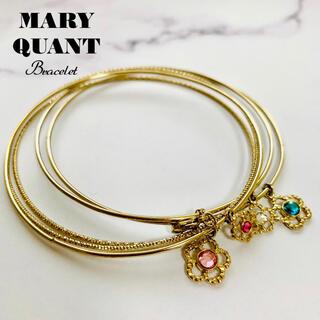 マリークワント(MARY QUANT)の未使用 MARY QUANT デイジー チャーム ブレスレット マリークワント(ブレスレット/バングル)