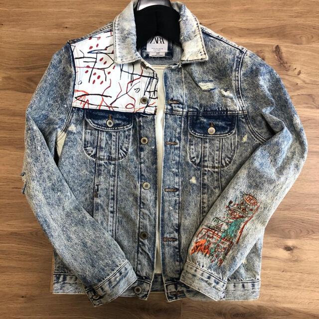ZARA(ザラ)の【中古】ZARAバスキアデニムジャケットGジャンサイズM メンズのジャケット/アウター(Gジャン/デニムジャケット)の商品写真