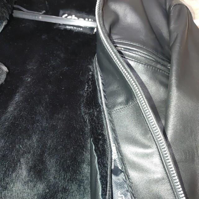 schott(ショット)の中古の美品、ボアライナー付き、ショットschott 641立ち襟シングルライダー メンズのジャケット/アウター(ライダースジャケット)の商品写真