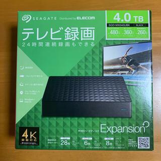 エクスパンション(EXPANSION)のSegate 外付けハードディスク 4TB SGD-MX040UBK(PC周辺機器)