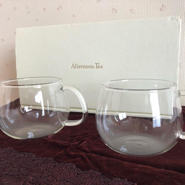 AfternoonTea(アフタヌーンティー)のAfternoon tea 耐熱カップ&コースターセット(2客) インテリア/住まい/日用品のキッチン/食器(グラス/カップ)の商品写真