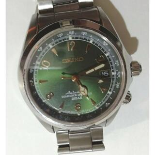セイコー(SEIKO)のセイコーアルピニスト腕時計メカニカルアナログ自動巻き6R15アーモンドグリーン(腕時計(アナログ))