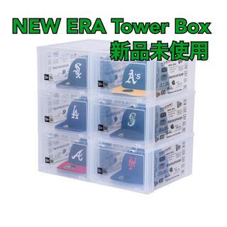 ニューエラー(NEW ERA)のタワーボックス ニューエラ ロゴ クリア 6箱入り1セット new era(ケース/ボックス)