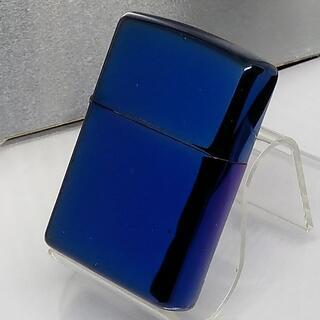 ジッポー(ZIPPO)の№432 ZIPPO 青 ブルー 鏡面 PVD加工 ジッポー 2004年3月(タバコグッズ)