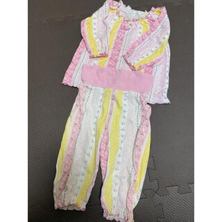 コンビミニ(Combi mini)のコンビミニ 腹巻 パジャマ  80 スムース 保育園 ピンク 花柄(パジャマ)