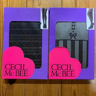 セシルマクビー(CECIL McBEE)のCECIL McBEE タイツ&ストッキング2足セット(タイツ/ストッキング)