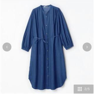 シマムラ(しまむら)のterawear emu デニムバンドカラーワンピース(ロングワンピース/マキシワンピース)