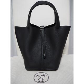 エルメス(Hermes)の新品未使用 エルメス ピコタンロックMM 22 ノワール 黒 シルバー金具(ハンドバッグ)