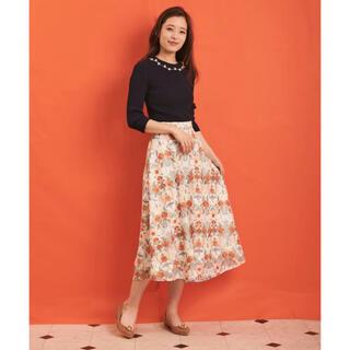 Noela - 最終お値下げ 幾何学フラワー柄刺繍スカート