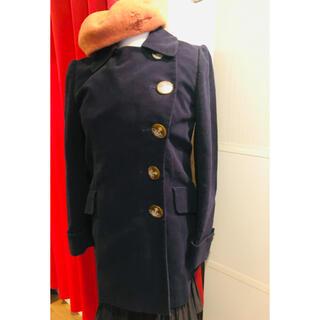 ヴィヴィアンウエストウッド(Vivienne Westwood)のヴィヴィアン変型フロントアシメ変型綿コート黒春定価6万以上二階堂ふみ椎名林檎益若(トレンチコート)