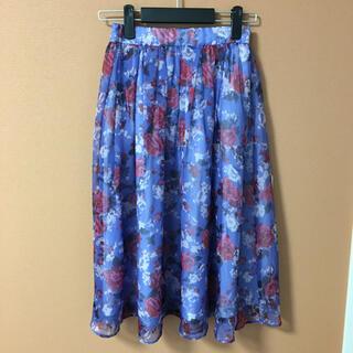 ミーア(MIIA)のMIIA 花柄スカート(ひざ丈スカート)