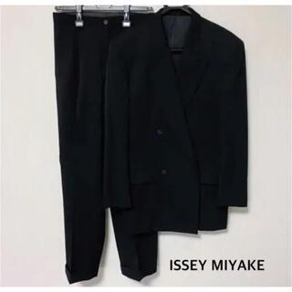 イッセイミヤケ(ISSEY MIYAKE)のISSEY MIYAKE 黒 ダブルブレスト(セットアップ)