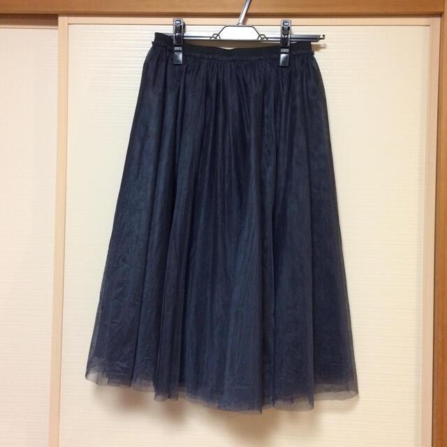 Apuweiser-riche(アプワイザーリッシェ)のApuweiser-riche アプワイザーリッシェ チュールスカート ネイビー レディースのスカート(ロングスカート)の商品写真
