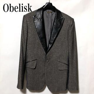 オベリスク(Obelisk)のオベリスク OBELISK テーラードジャケット S/ディアスキン レザーラペル(テーラードジャケット)