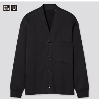 ユニクロ(UNIQLO)の【XL、BLACK】新品タグ付UNIQLO U スウェットカーディガン(カーディガン)