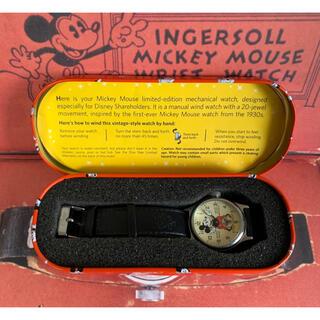 ディズニー(Disney)のミッキーマウス 手巻腕時計 1933復刻 株主限定(腕時計(アナログ))