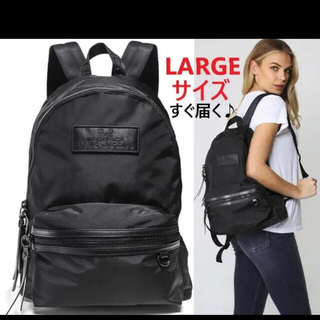 MARC JACOBS - A4対応♪MARC JACOBS ナイロン ロゴパッチ バックパック LARGE