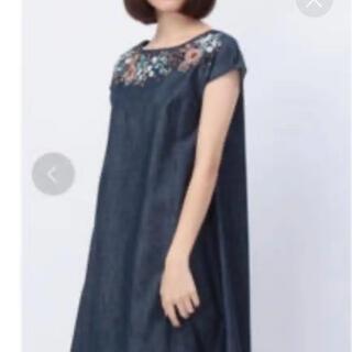 anatelier - 新品★アナトリエ  デニムワンピース  刺繍花柄  ジャンパースカート