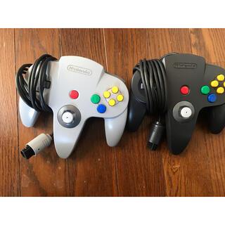 ニンテンドウ64(NINTENDO 64)のNintendo64 コントローラー2個セット(家庭用ゲーム機本体)