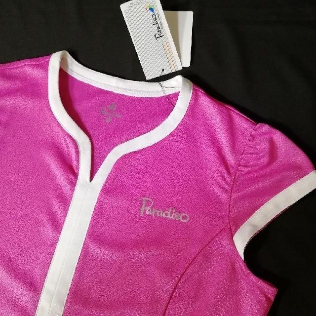 Paradiso(パラディーゾ)の12)M新品★Paradisoパラディーゾ ゲームシャツ テニスウェアレディース スポーツ/アウトドアのテニス(ウェア)の商品写真