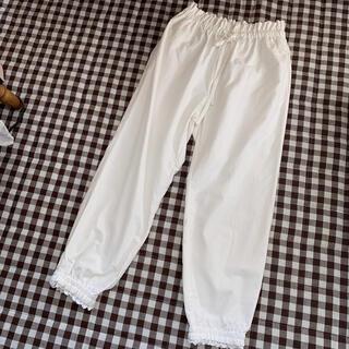 SM2 - 新品未使用♡タグ付き サマンサモスモス 綿麻裾ギャザーレースパンツ