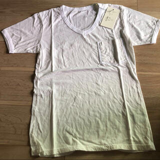 エイケイエム(AKM)の新品 AKM ポケットT Tシャツ ホワイト L ポケット Vネック カットソー(Tシャツ/カットソー(半袖/袖なし))