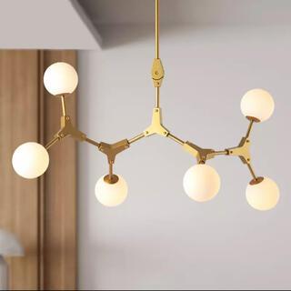 イケア(IKEA)の豆のゴールドペンダントランプ(天井照明)