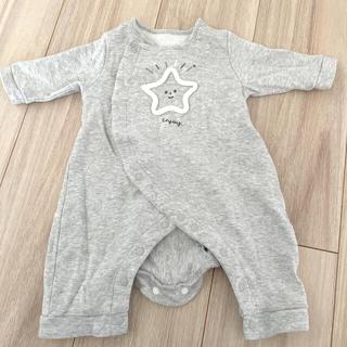 西松屋 - 新生児 ロンパース  星 スウェット 50